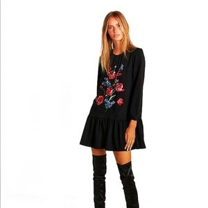 EXPRESS Embroidered Floral Dress